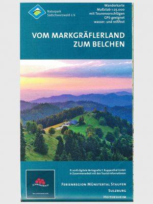 Wanderkarte Vom Markgräflerland zum Belchen mit Tourenvorschlägen