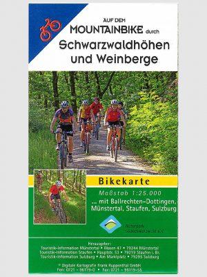 Mountainbike-Karte durch Schwarzwaldhöhen und Weinberge